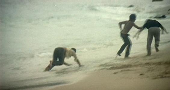 Aquella ola, en la playa